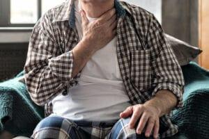 Throat Pain stock image