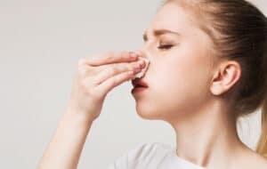 Nosebleeds stock image